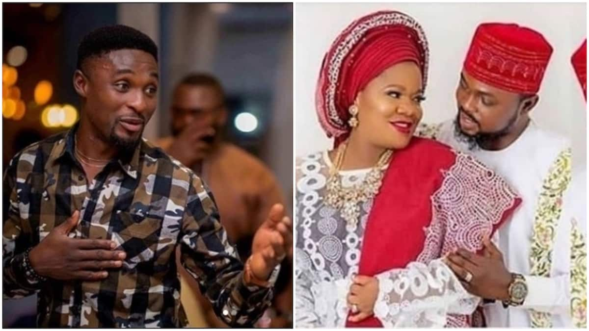 Image result for images of Adeniyi Johnson and girlfriend, congratulate Toyin Abraham