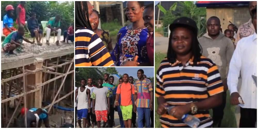 Cute Moment Villagers Met Bayelsa Councilor who Used Her Car Allowance Money to Build Bridge Warm Hearts