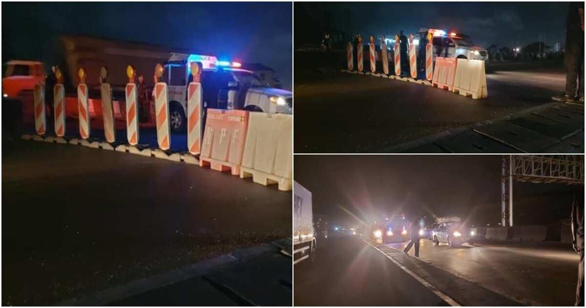 Lagos-Ibadan expressway blocked as lockdown order takes effect