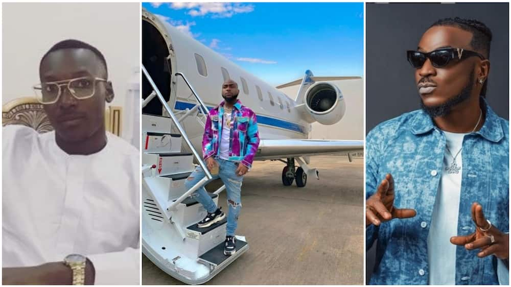 The man said that he does not mind Peruzzi lapping him. Photos sources: Instagram/Davido/Peruzzi, Twitter/Paul