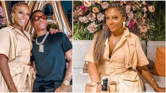 Nigerian star Wizkid spotted chilling with Ghanaian President Nana Akuffo Addo's daughter on her birthday