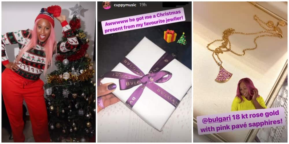 DJ Cuppy receives designer jewellery from her mystery man as Christmas gift