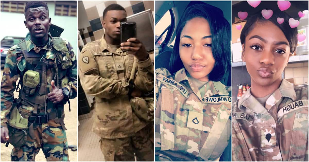 Military men and women in the world share uniform photos to celebrate their job