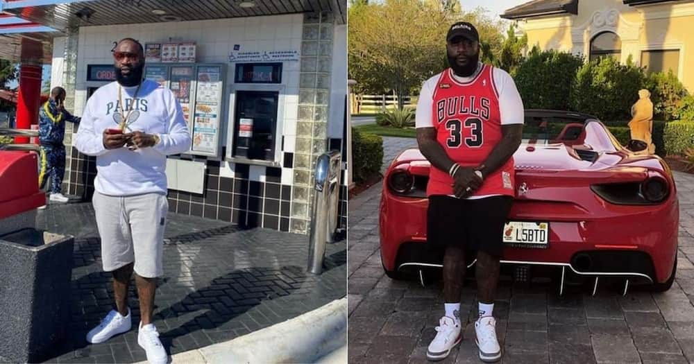 Rick Ross, owns 100 classic & luxurious cars, no driver's license