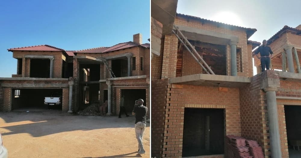Limpopo man shows off the mansion he is building in the village