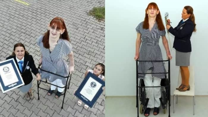 24-year-old Turkish lady becomes world's tallest living woman, she moves around in a wheelchair