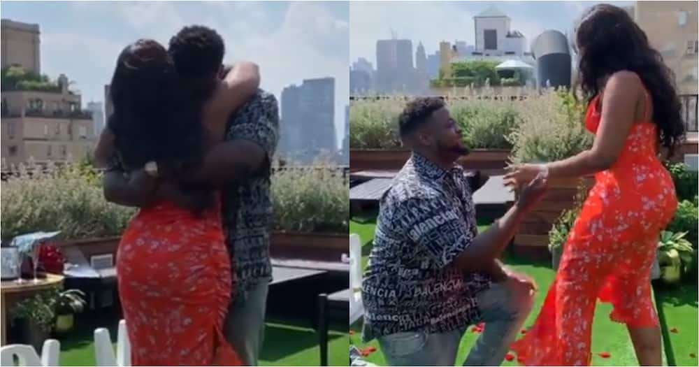 Image result for images of Adewale Adeleke proposes to his girlfriend,