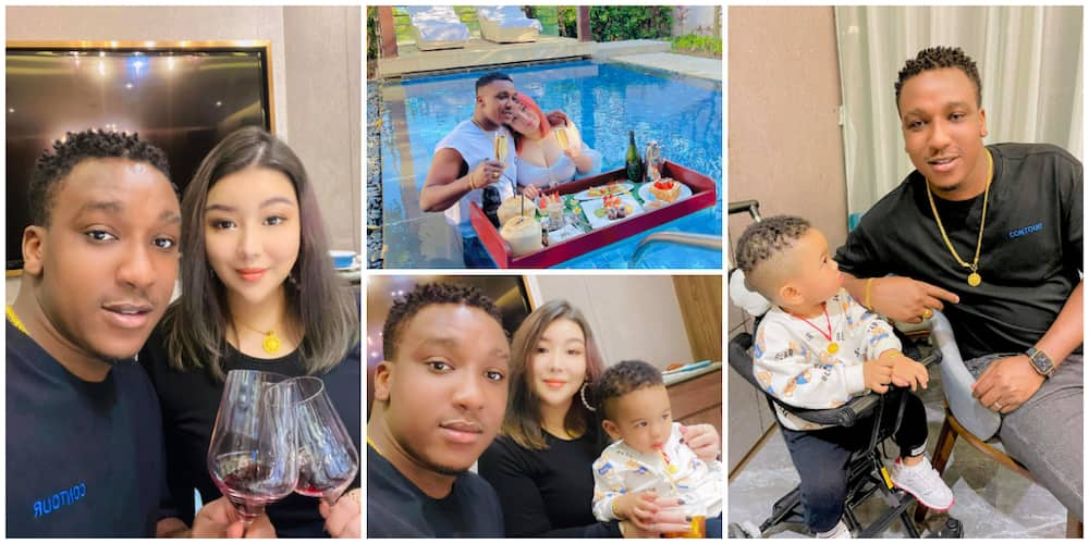 Nigerian Man Shows Off His Young Beautiful Oyinbo Wife and Kid, Says Everyone needs One, Photos Stir Reactions