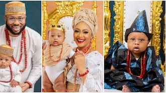 Tonto Dikeh's ex-husband Olakunle Churchill finally unveil son's face as family grace magazine cover