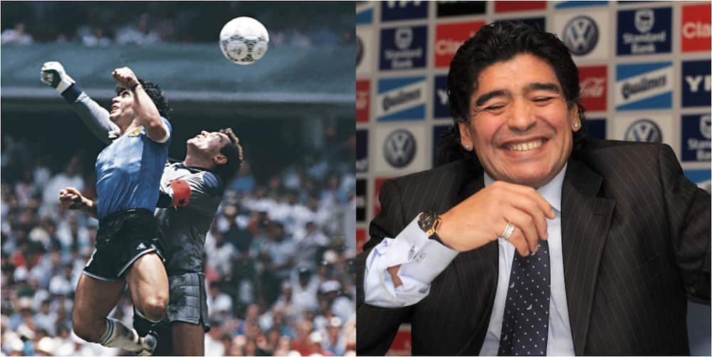 Diego Maradona says he wants to score another hand of God against England