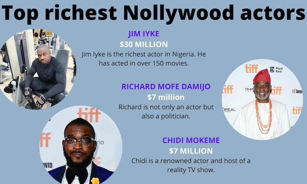 List of the richest Nollywood actors