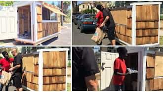 Kind man builds fine tiny house that moves on wheels for homeless 60-year-old woman, gifts her in video