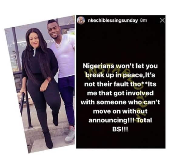 Nkechi Blessing reacts as Nigerians keep dragging her over failed relationship