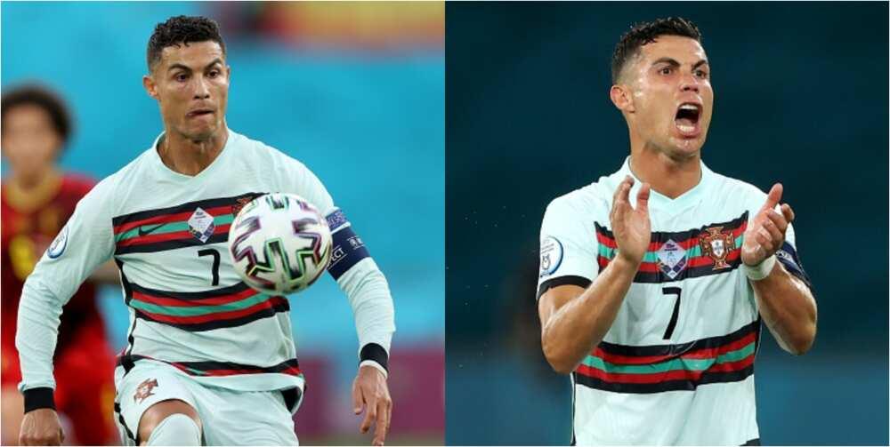 Fans slam Ronaldo changing shirt during half time loss Belgium at Euro 2020