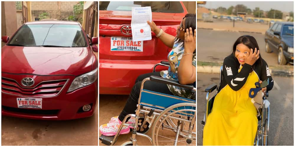 Disabled Woman Breaks the Internet as She Buys Herself a Car Ahead of Her Birthday, Nigerians React