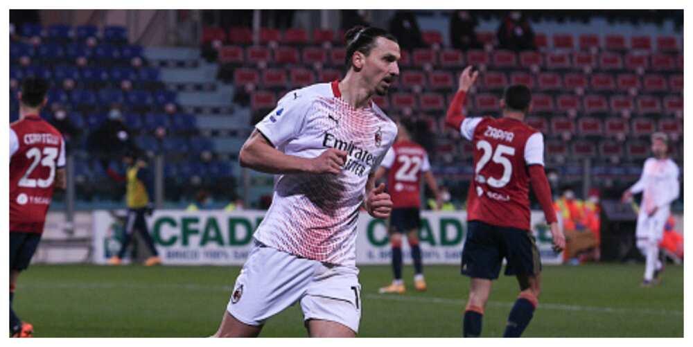 AC Milan star Ibrahimovic closes gap on Ronaldo's goalscoring record in Serie A