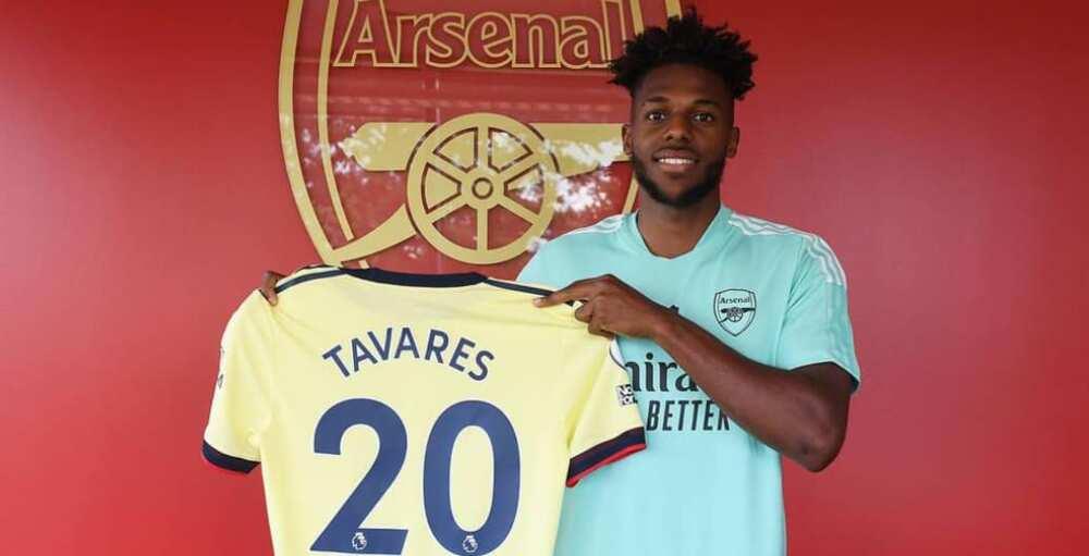 Nuno Tavares in Arsenal colours
