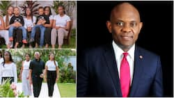 Children's Day: Nigerian billionaire Tony Elumelu gives rich family goal in adorable photos with his kids