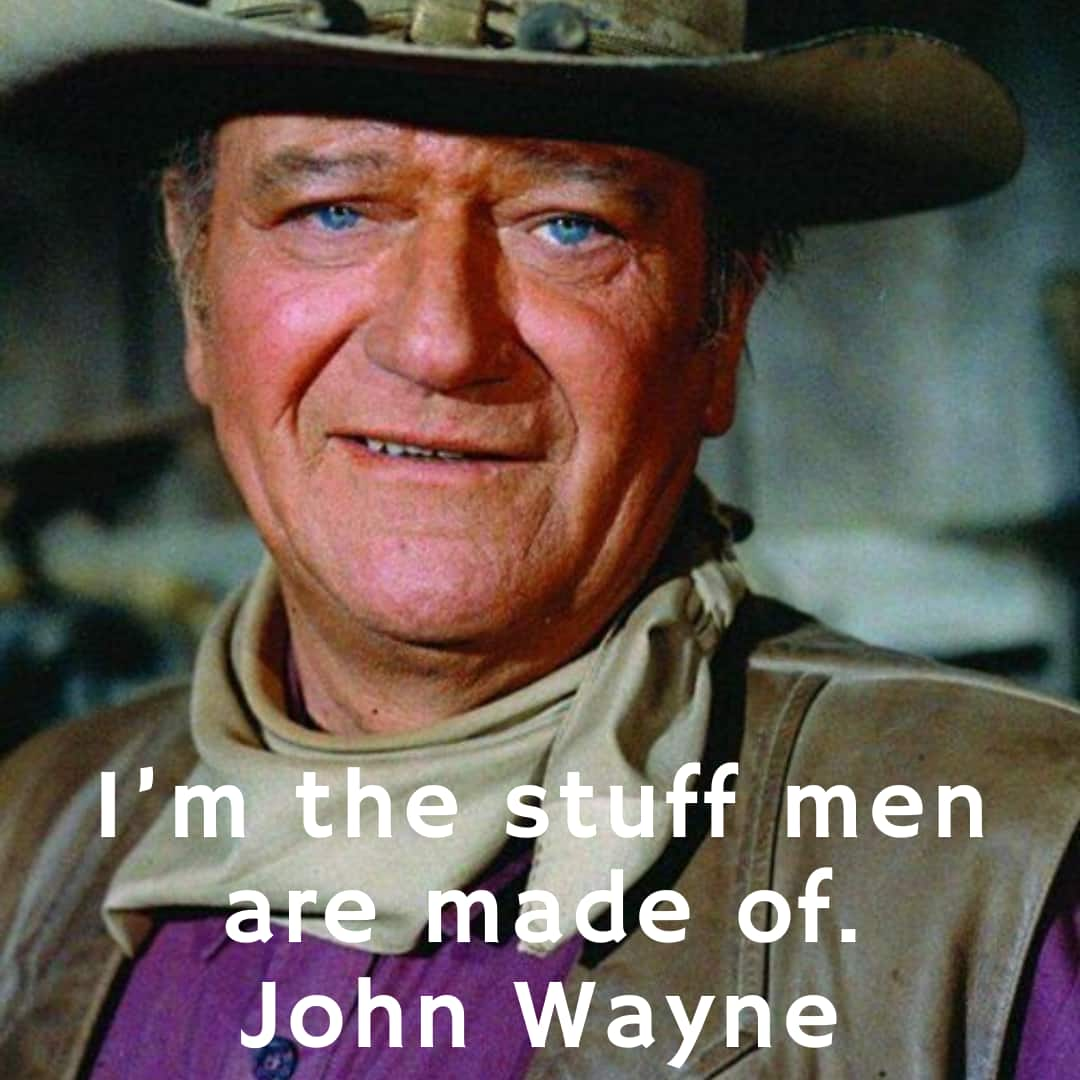 A man ought to do what he thinks is right JOHN WAYNE Wall Quote