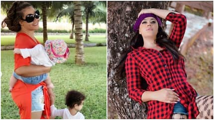 Nadia Buari finally shows the face of one of her daughters as they step out in style (photos)