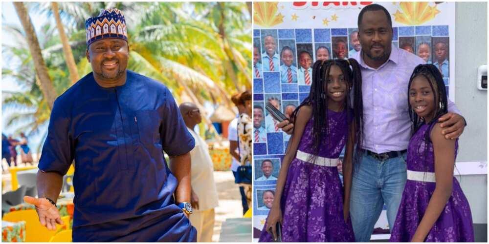 Desmond Elliott celebrates daughter.