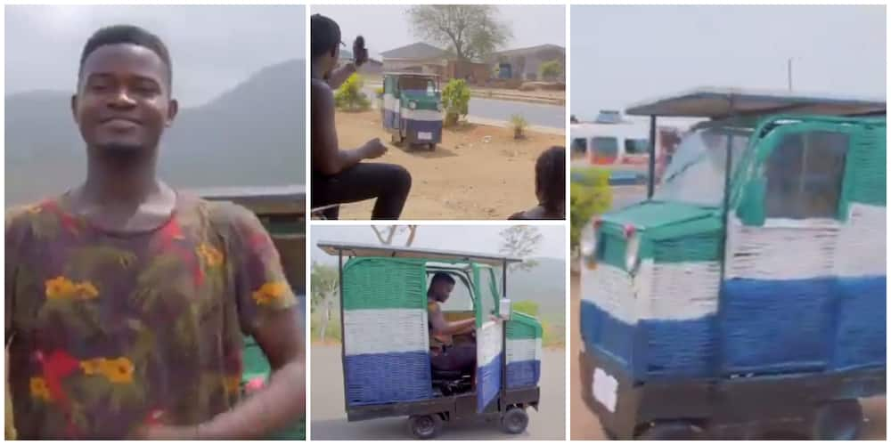 Elon Musk of Africa: Young Man Invents Car that Runs on Solar Energy from Waste Materials
