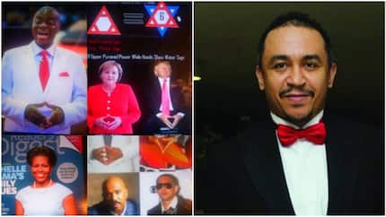 Daddy Freeze claims to expose Bishop David Oyedepo, accuses him of being a member of illuminati (photos)