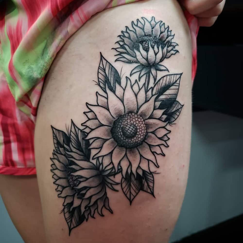 4fcd2dd543dc4 Sunflower tattoo: meaning and top 50 designs ▷ Legit.ng