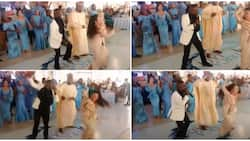 Pretty Asian bride in heels stun her Nigerian husband and guests at their wedding with legwork in video