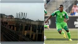 Super Eagles legend Emenike starts construction of new house days after building massive hospital for his people (photos)