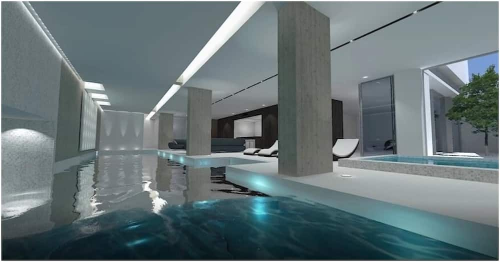 Inside Aubameyang's new luxurious mansion complete with indoor pool, bar