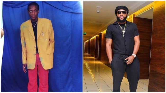 Epic throwback photo of singer Kcee in 10 years challenge