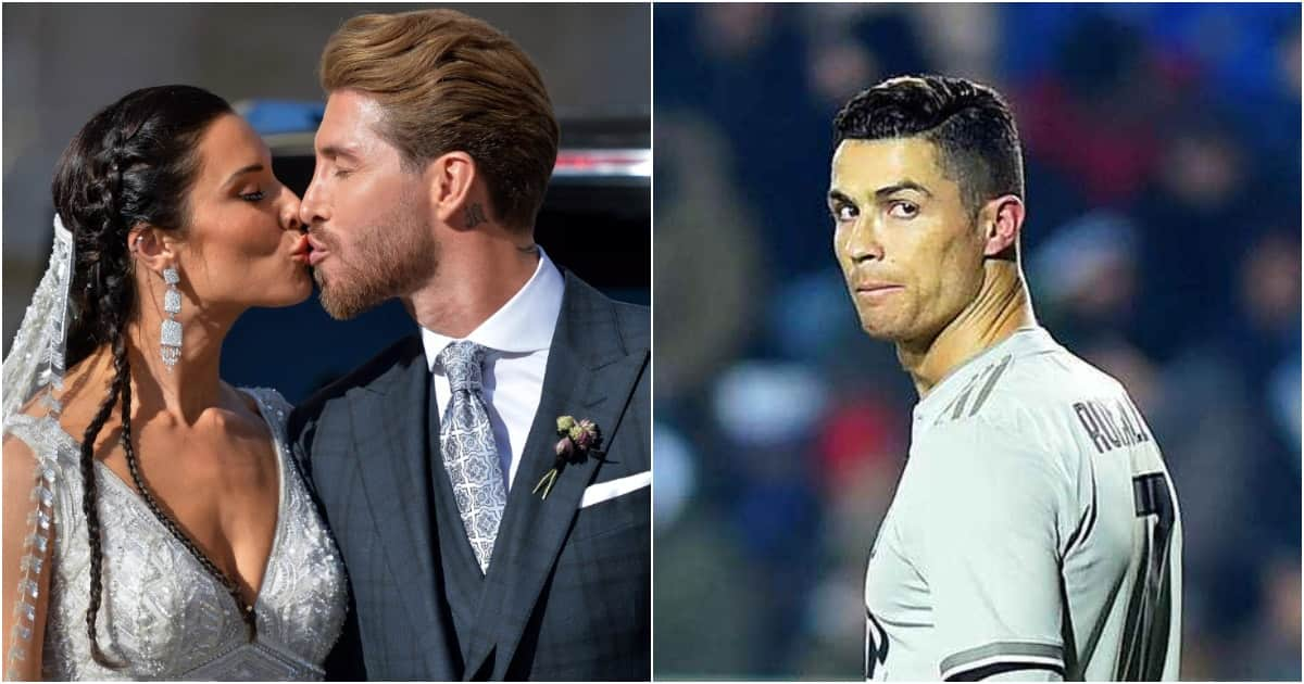 Here's how football stars reacted in Ronaldo's absence during Sergio Ramos wedding (photos)