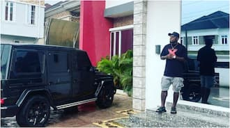 Super Eagles Legend Steps Out in Style in His N54m Benz to Support Nigeria in Their WCQ Against Liberia