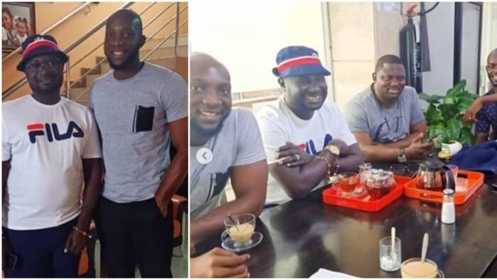 Former BBNaija housemate Tuoyo spotted chilling with Warri billionaire Ayiri Emami and Mr Jollof