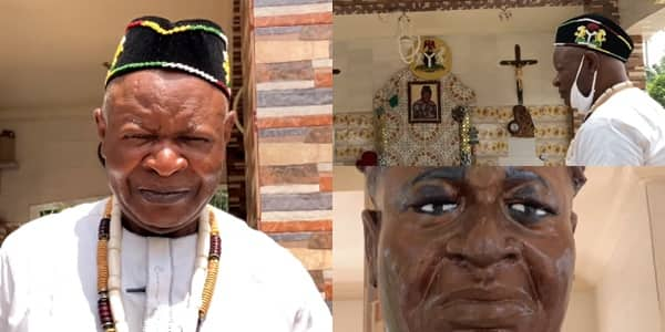 It's 9 by 9 feet: Nigerian man builds his grave and monument, celebrates his burial before his death