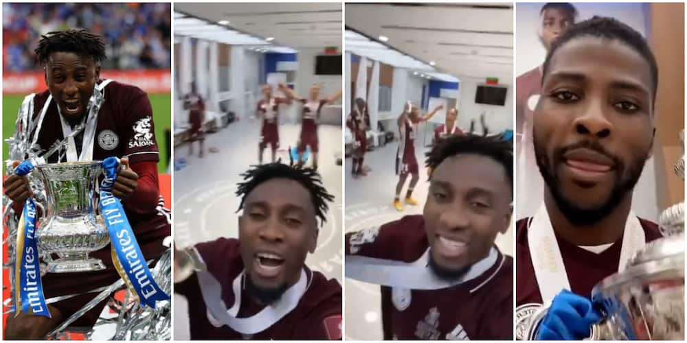 Kelechi Iheanacho, Wilfred Ndidi Make Team Dance to Dr Sid's Song After Leicester City's Win Over Chelsea