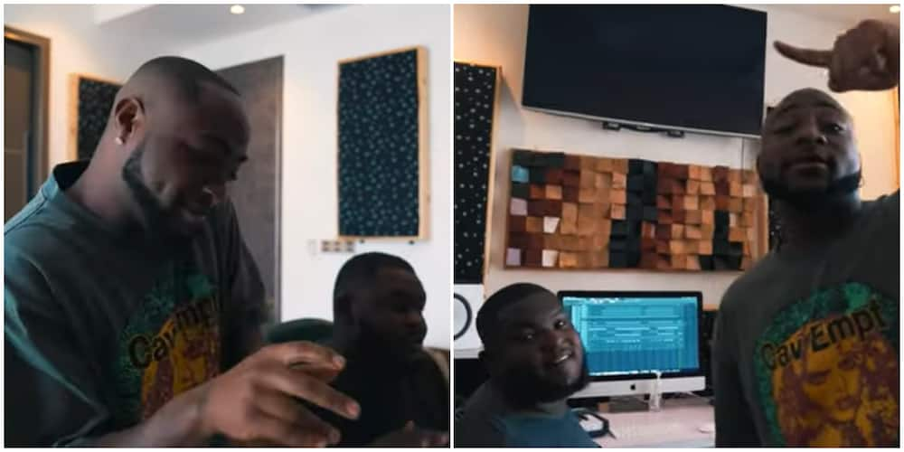 Singer Davido shares video showing how the beat of his 2020 hit song FEM was made