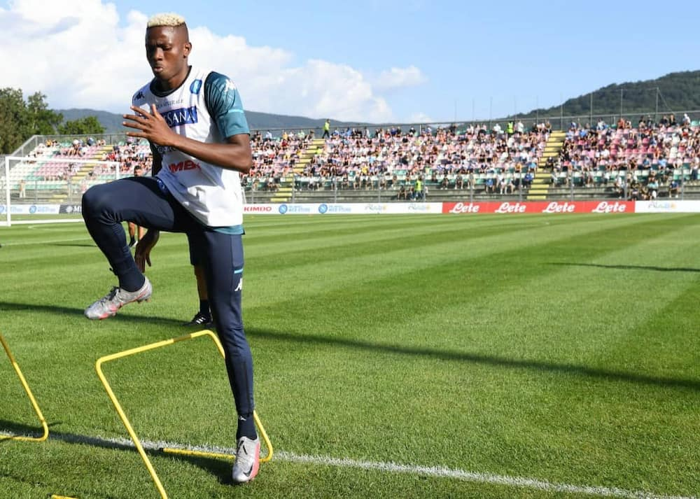 Victor Osimhen Opens Napoli Goals Record During Training Session