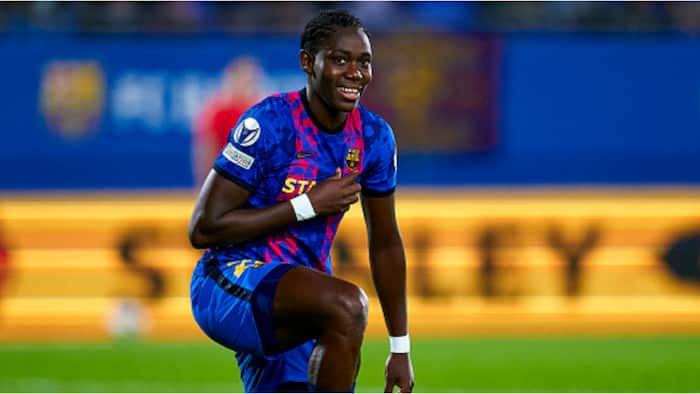 Nigerian Barcelona star scores against former club Arsenal in Champions League win, posts 5-star performance
