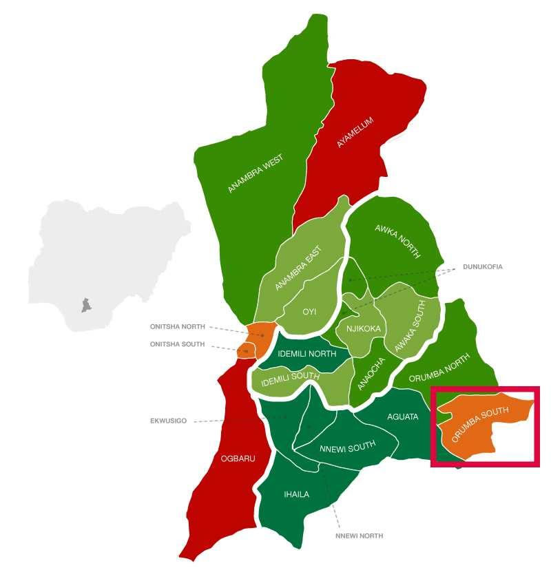 Orumba South location