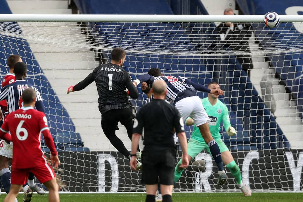 Alisson Becker's 95th-minute header saved Klopp's blushes as Liverpool beat West Brom in a tough EPL clash