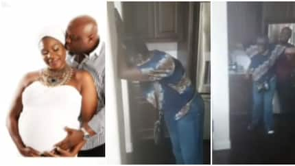 Emotional moment a Nigerian mom found out her daughter is pregnant after 10 years of marriage (video)