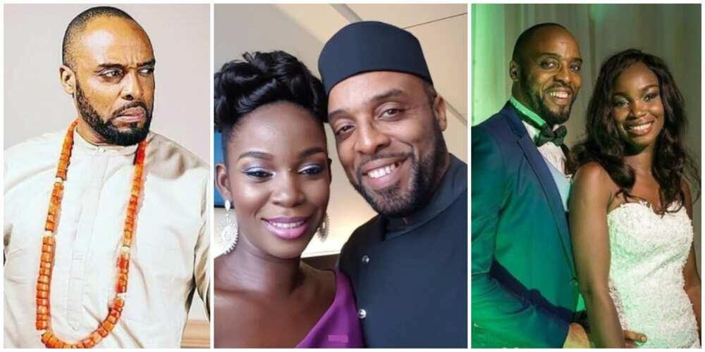 Photos of Kalu Ikeagwu and rumoured estranged wife.