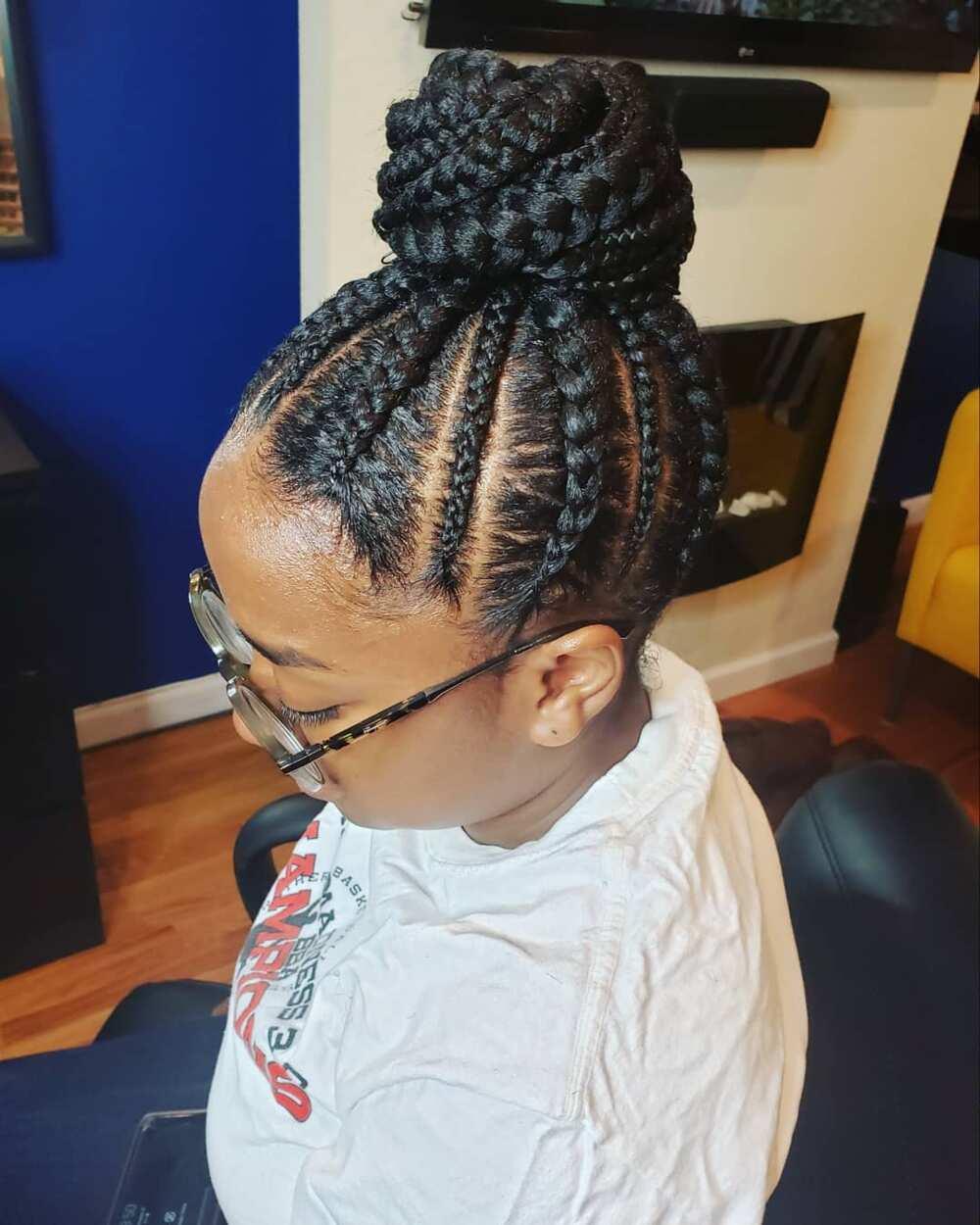 braised cornrow hairstyles