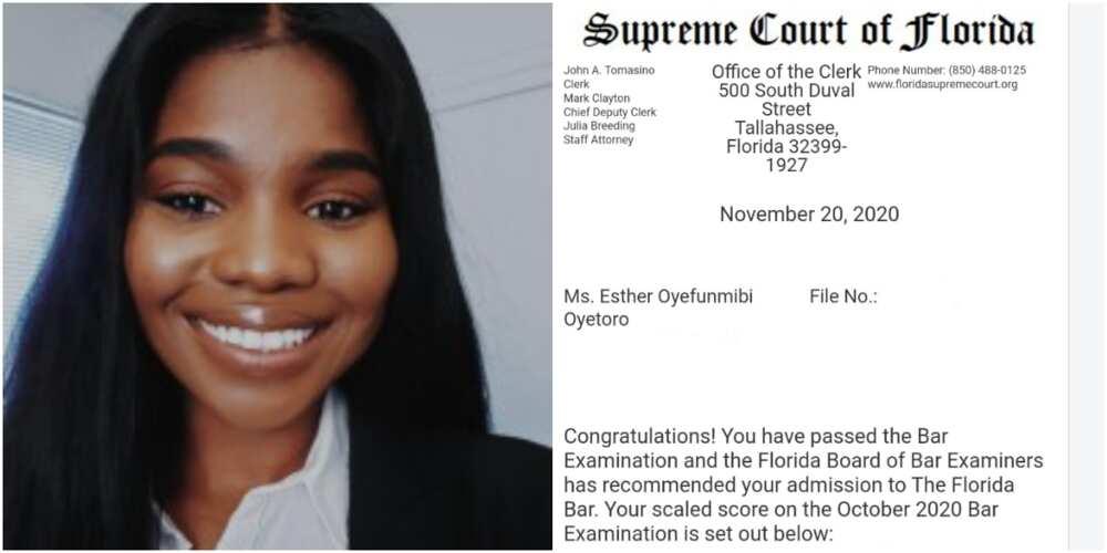 Oyetoro Esther: Nigerian lady celebrates after passing bar examination in US
