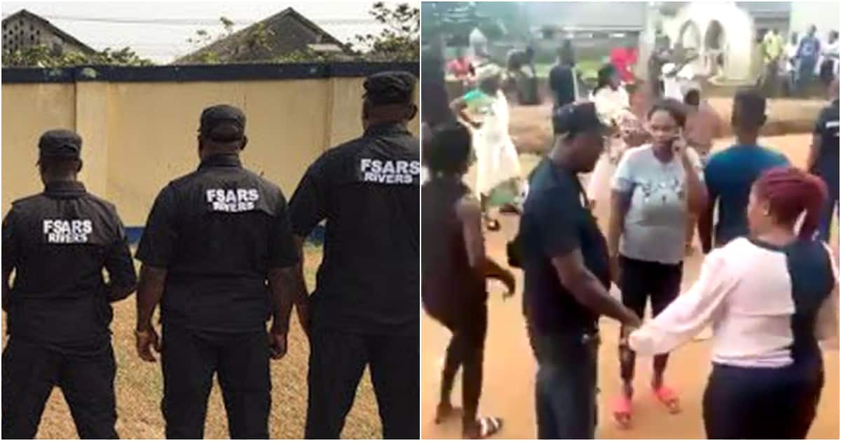 Ikorodu residents chase off SARS trying to arrest man claiming he is a fraudster (video) - Legit.ng