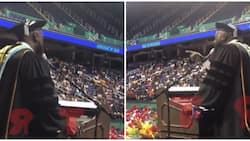 High school principal sings Whitney Houston's I Will Always Love You beautifully to his graduating students
