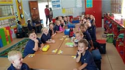 Many blast South African school for separating black and white pupils in a class (photo)