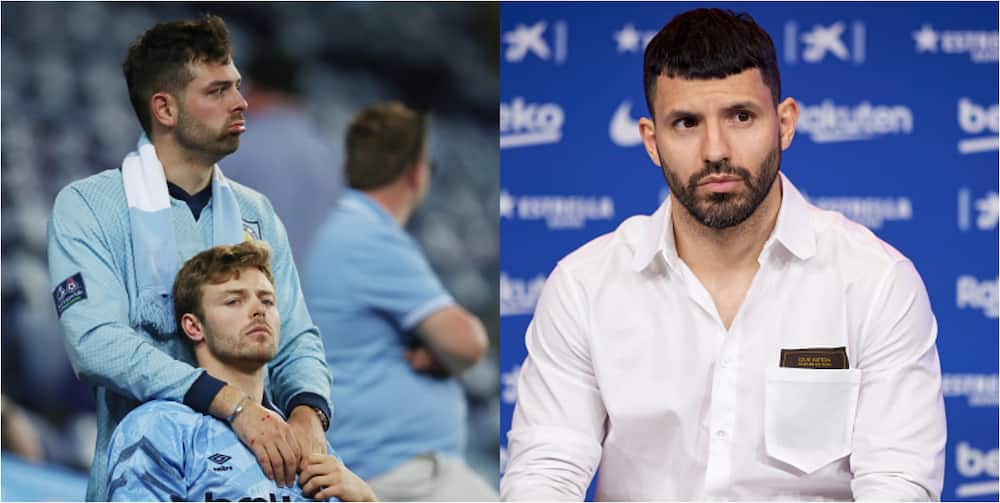 Man City fans 'attack' departed striker Aguero following recent comments about club
